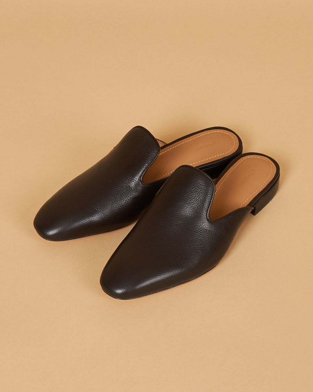 12Storeez Мюли из кожи с закрытым носом (коричневые) 12storeez мюли с открытым носом на низком каблуке оливковые