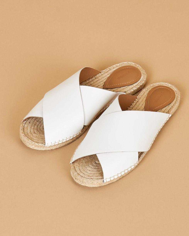 12Storeez Сандалии на подошве из джута (белые) сандалии из разноцветной кожи dixmille