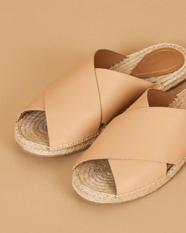 12Storeez Сандалии на подошве из джута (бежевые) сандалии из разноцветной кожи dixmille