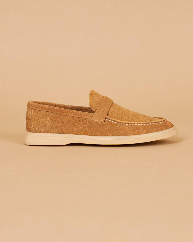 12Storeez Туфли-лоферы из замши (песочные) 12storeez ботинки из замши с резинкой песочные