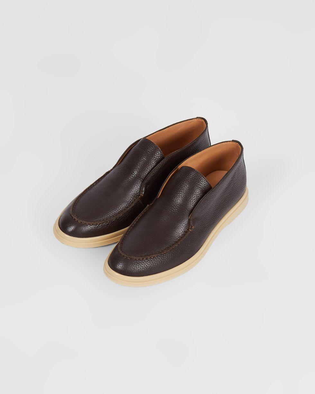 12Storeez Полуботинки из кожи (коричневые) 12storeez полуботинки из кожи на шнурках черный