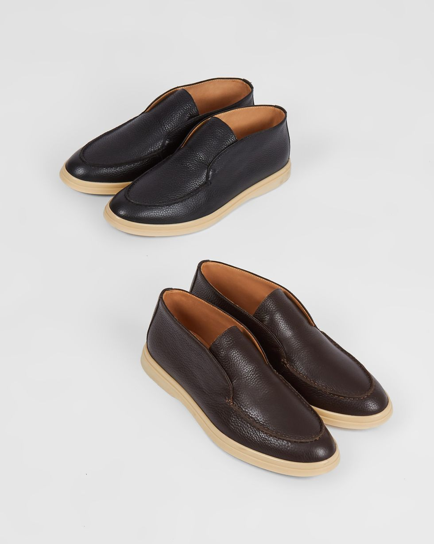 Полуботинки из кожи 35Обувь<br><br><br>Артикул: 818412939<br>Размер: 35<br>Цвет: Коричневый<br>Новинка: НЕТ<br>Наименование en: Leather ankle boots
