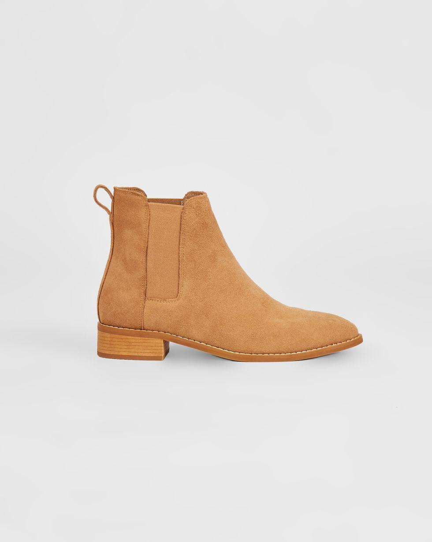 Ботинки из замши с резинкой 40Обувь<br><br><br>Артикул: 818412942<br>Размер: 40<br>Цвет: Песочный<br>Новинка: НЕТ<br>Наименование en: Suede chelsea boots