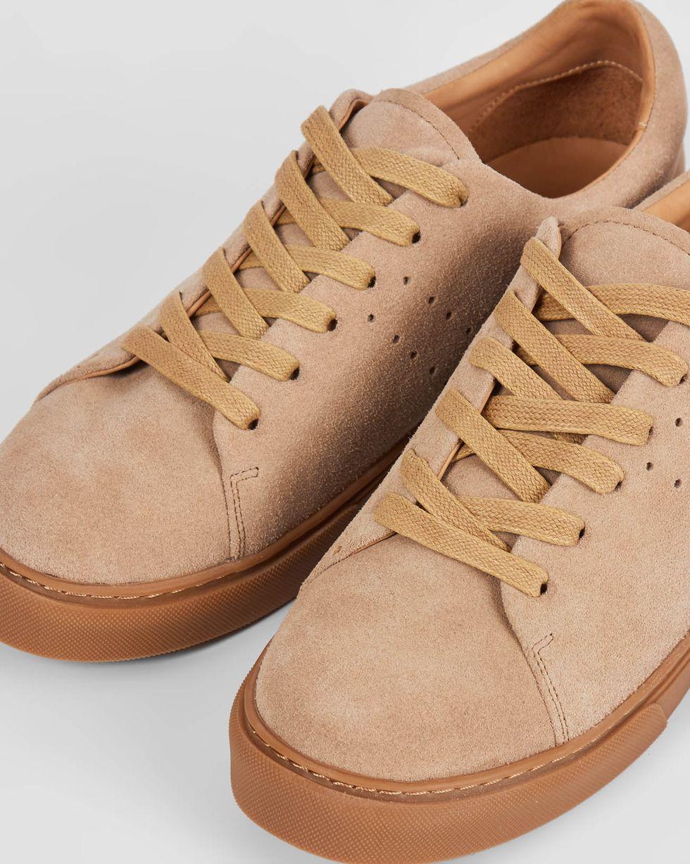 12Storeez Кеды из замши на контрастной подошве (бежевые) 12storeez ботинки из замши с резинкой песочные