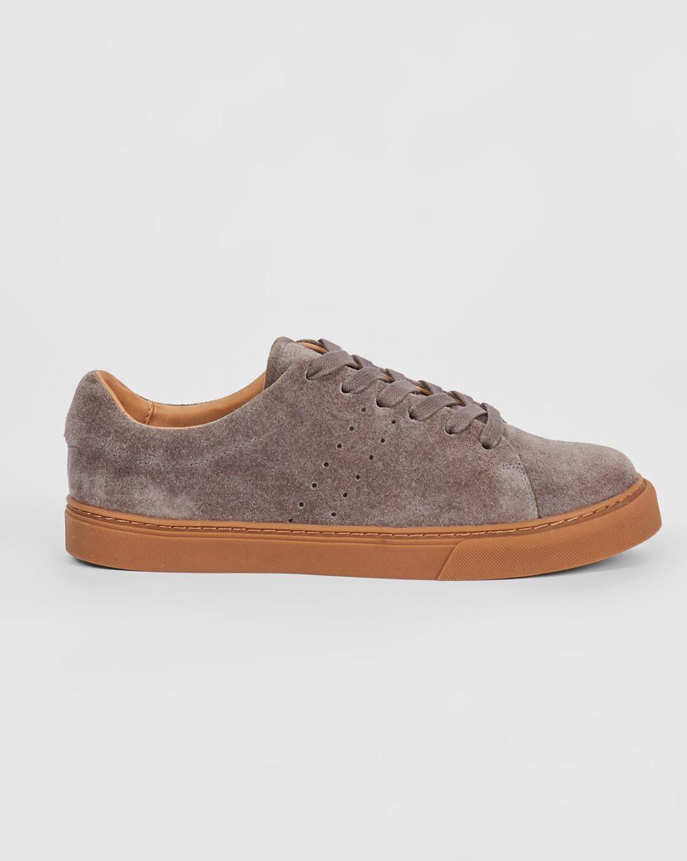 12Storeez Кеды из замши на контрастной подошве (серые) 12storeez туфли лоферы из замши оливковые