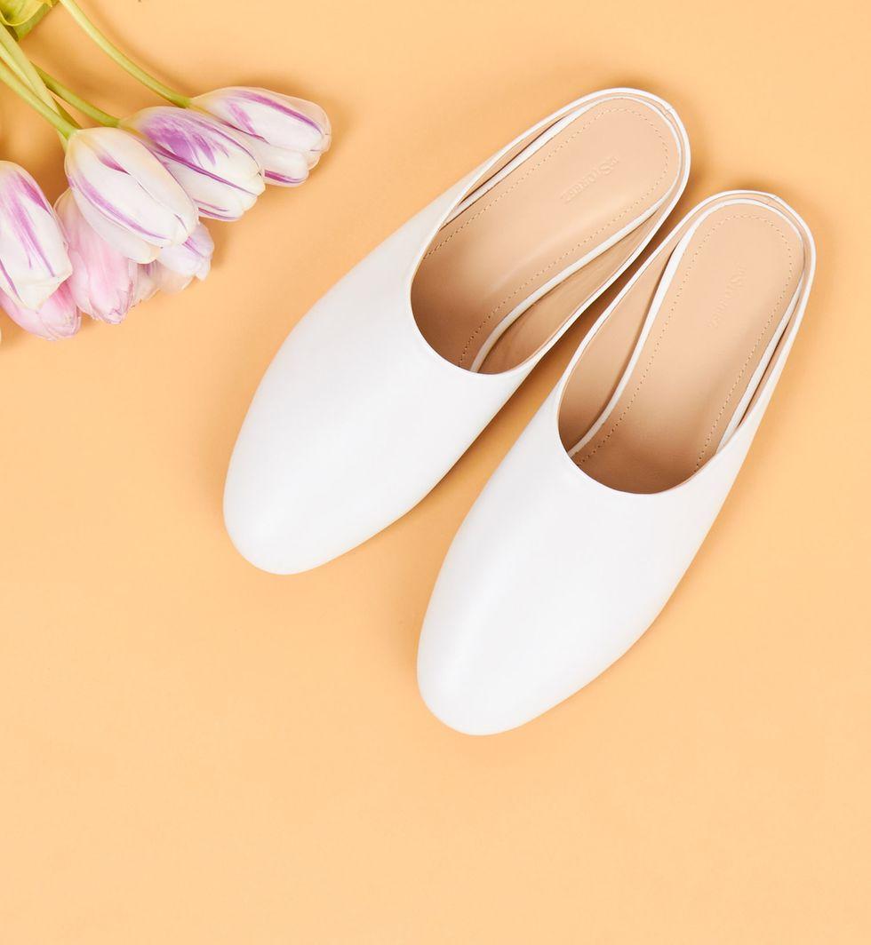 12Storeez Туфли-бабуши без задника (белые) туфли без задника