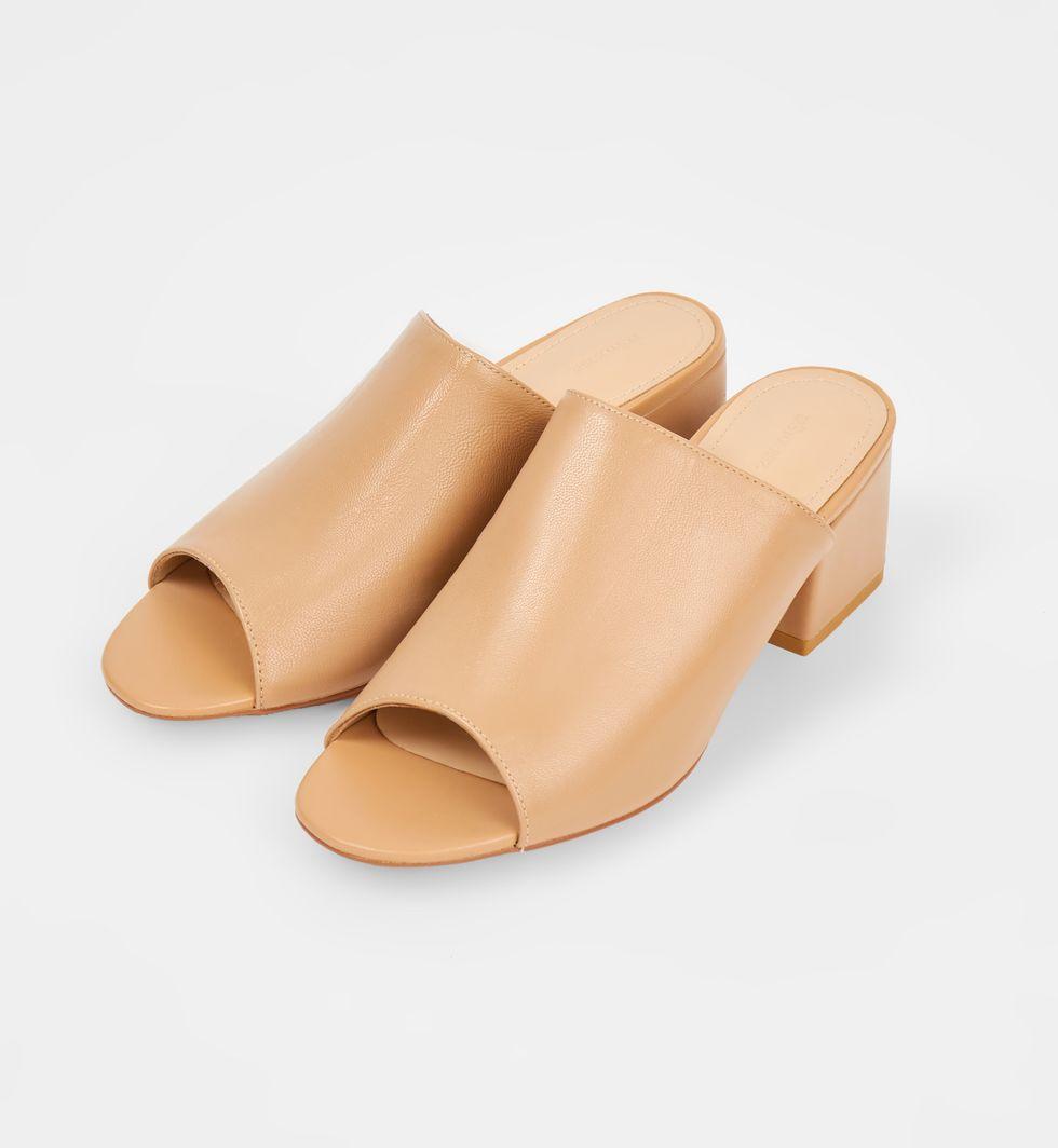 12Storeez Сандалии-мюли на каблуке (бежевые) 12storeez мюли с открытым носом на низком каблуке оливковые