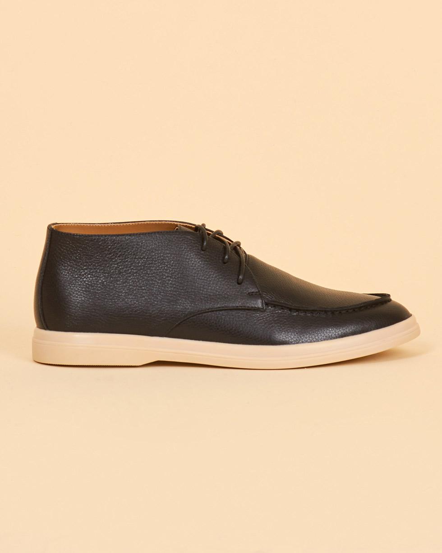 12Storeez Полуботинки из кожи на шнурках (черный) 12storeez полуботинки из кожи на шнурках черный