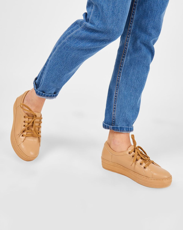 Кеды 38Обувь<br><br><br>Артикул: A7623937521<br>Размер: 38<br>Цвет: Бежевый<br>Новинка: НЕТ<br>Наименование en: Leather sneakers