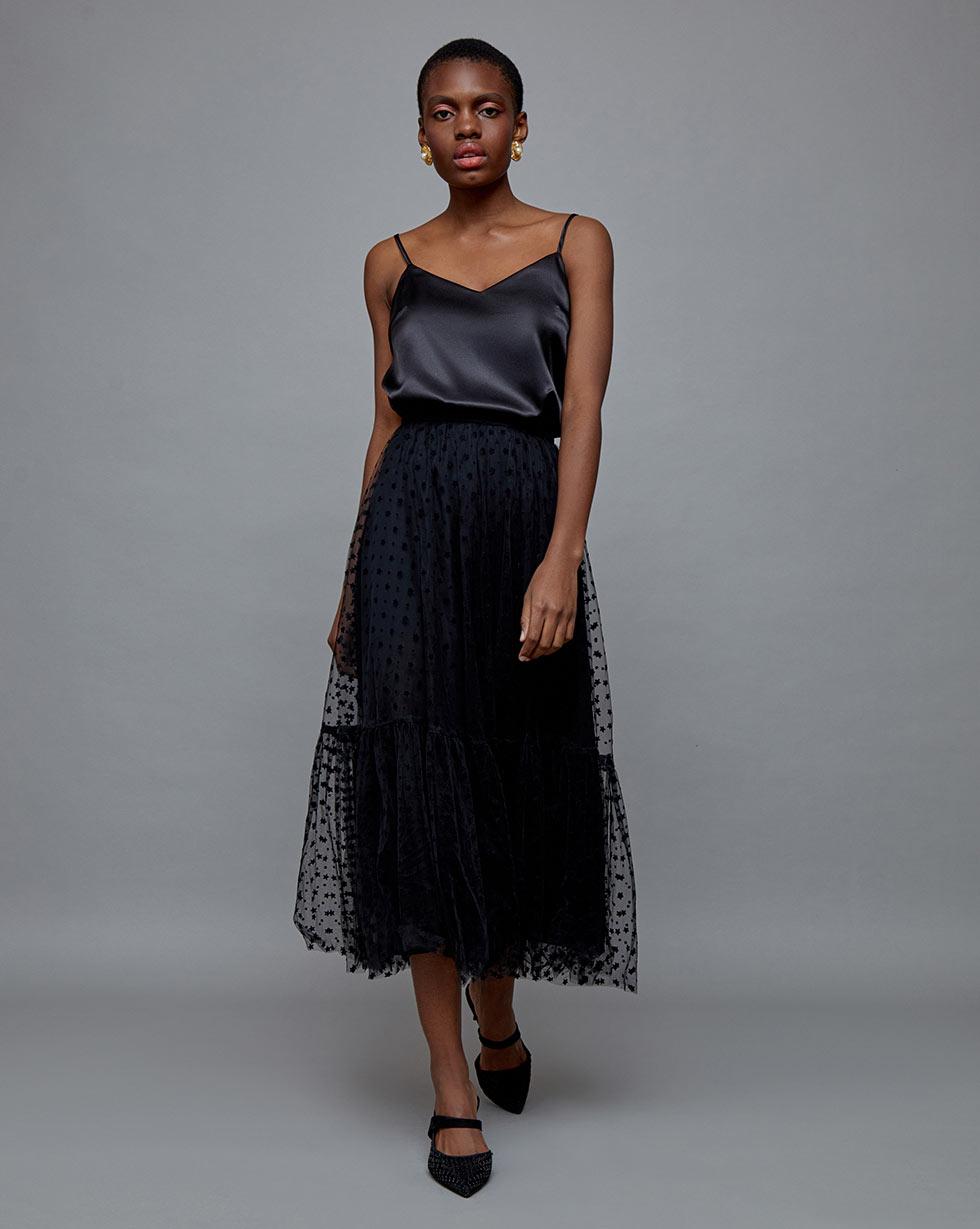 Фото - 12Storeez Юбка из сетки, с воланом юбка из полиамида