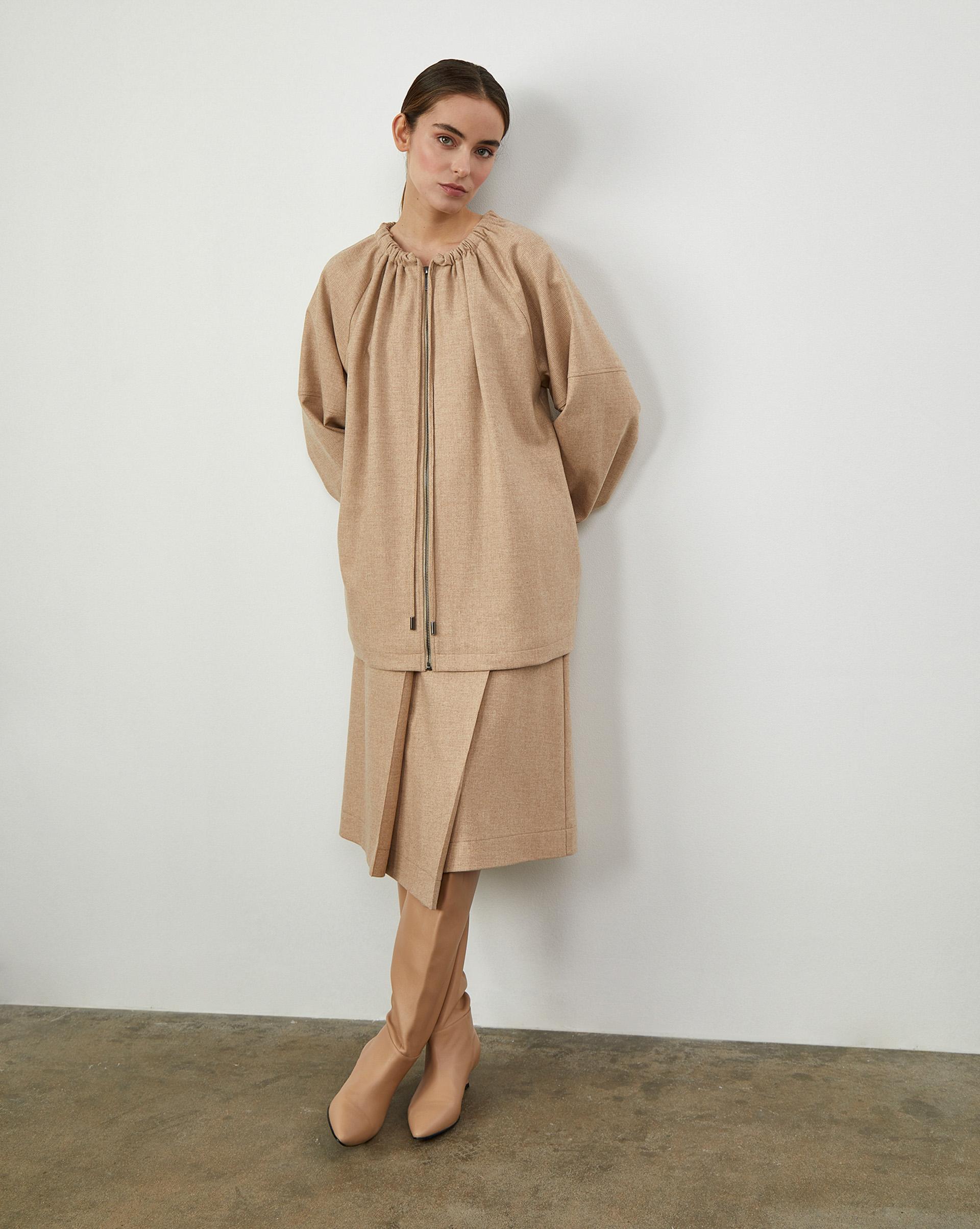 12Storeez Юбка (Песочный) юбки апрель юбка иностранка