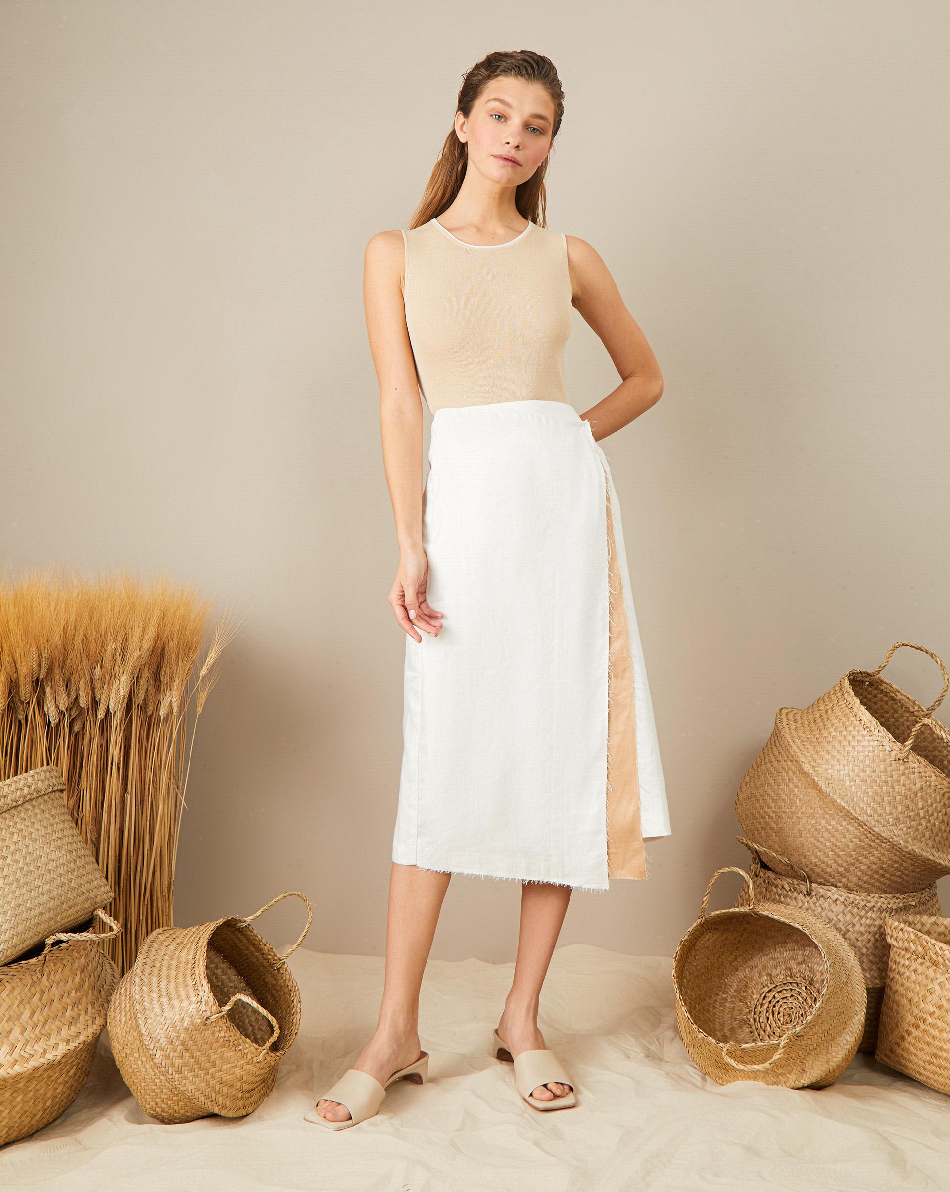 Фото - 12Storeez Ассиметричная юбка юбка из полиамида