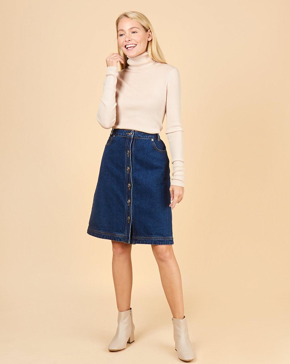 12Storeez Джинсовая юбка (синий)