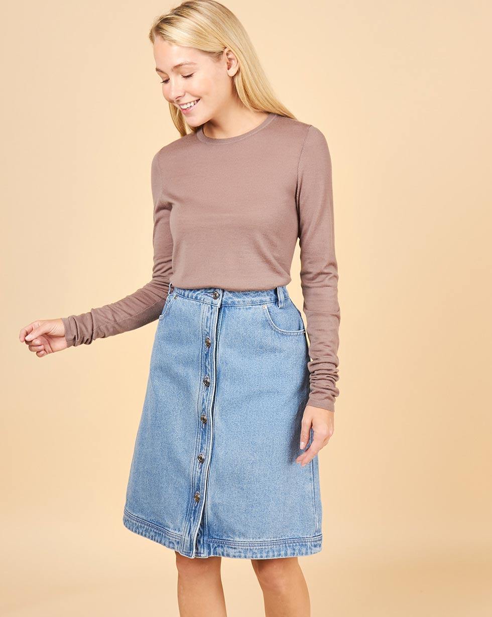 12Storeez Джинсовая юбка (голубой)