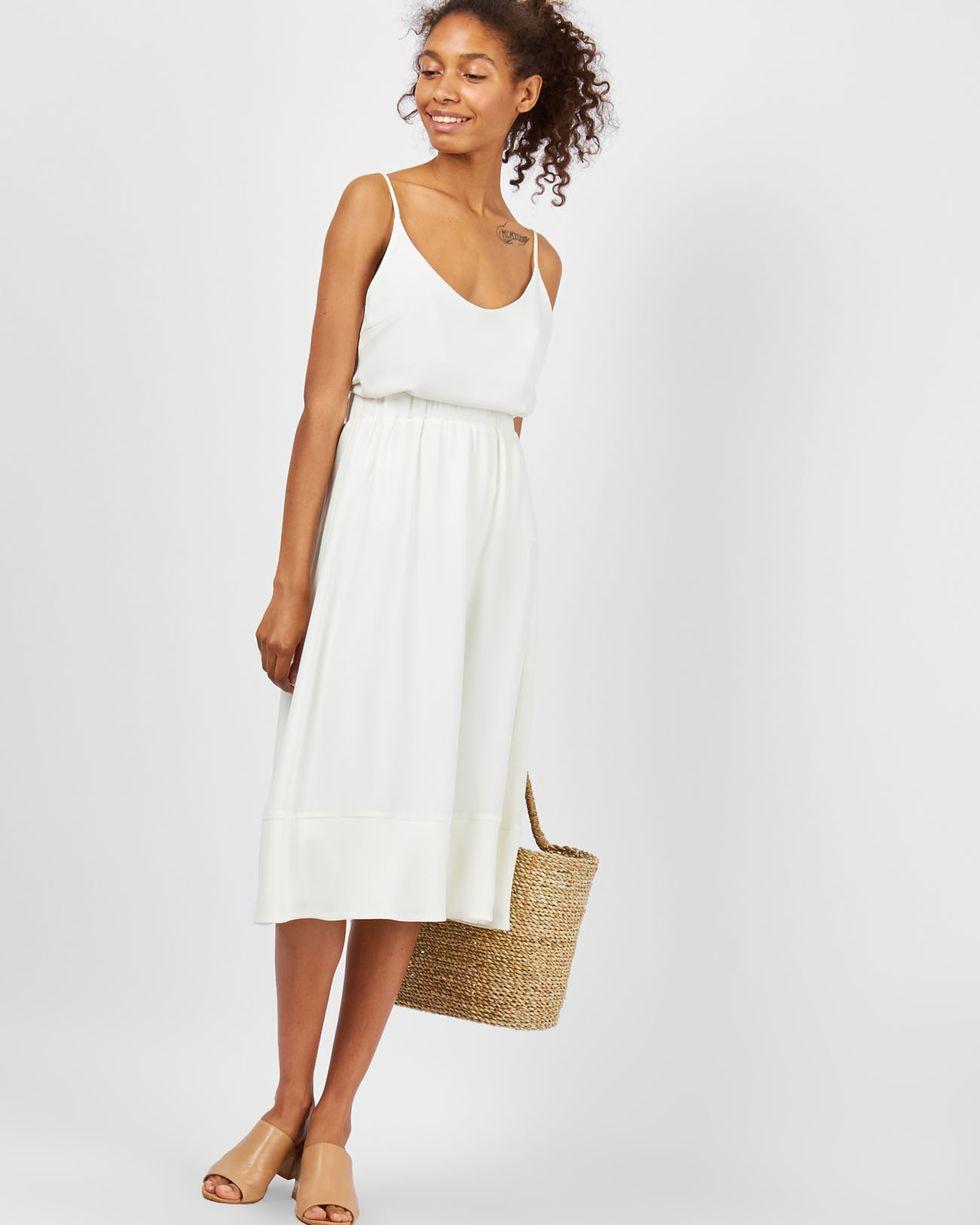 12Storeez Юбка миди с воланом (молочный) юбка миди цвет персиковый c h i c