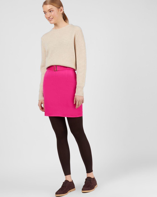 Юбка мини со съемным поясом SЮбки<br><br><br>Артикул: 82712194<br>Размер: S<br>Цвет: Фуксия<br>Новинка: НЕТ<br>Наименование en: Wool belted mini skirt