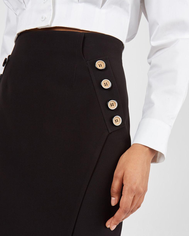 12Storeez Юбка с пуговицами на карманах (черный) цена и фото