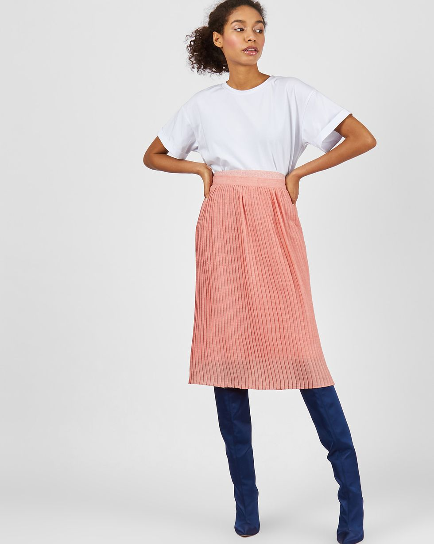 Юбка комбинированная  LЮбки<br><br><br>Артикул: 82714002<br>Размер: L<br>Цвет: Розовый<br>Новинка: НЕТ<br>Наименование en: Combined pleated skirt