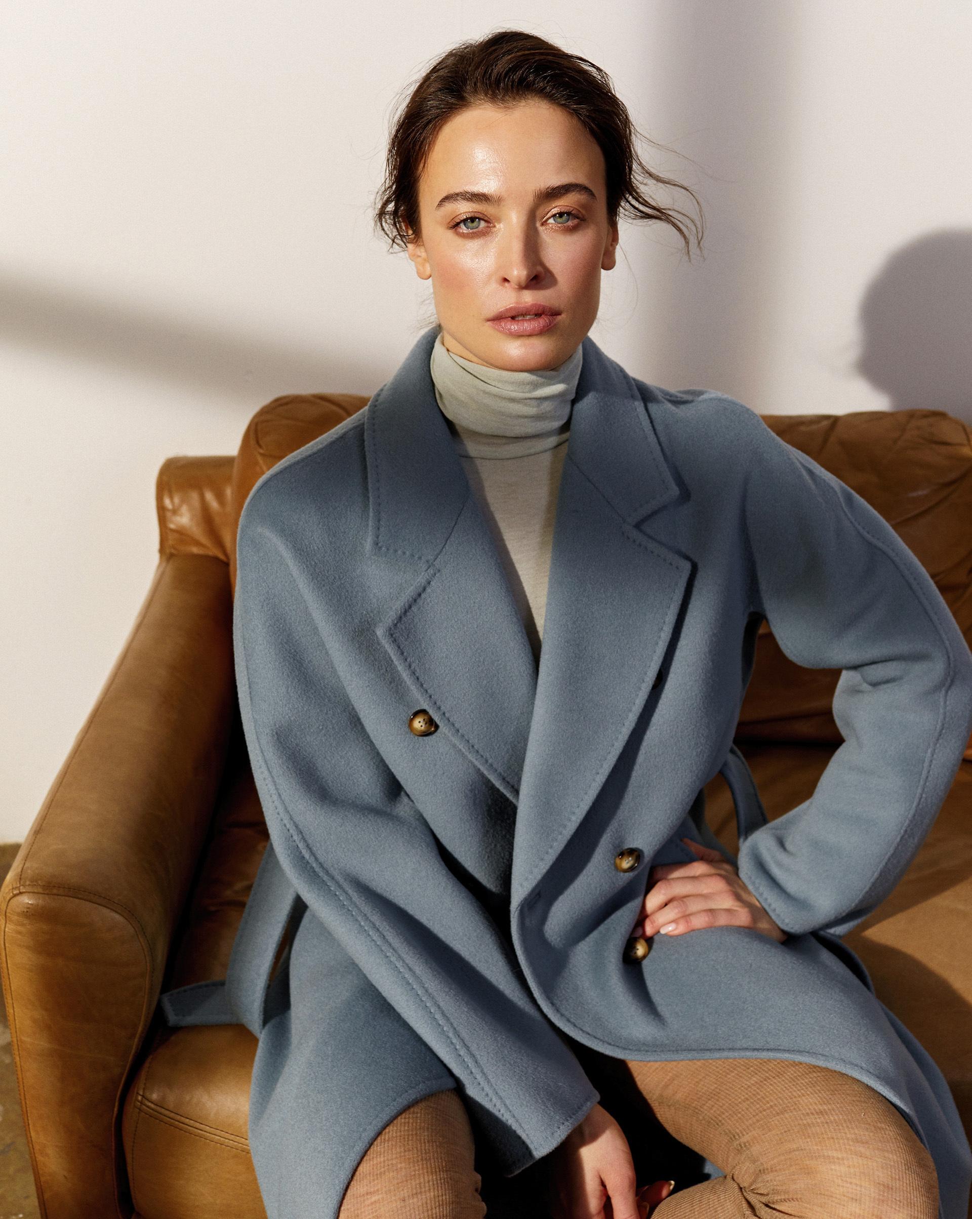 12⠀STOREEZ Пальто двубортное с поясом 105582 фото