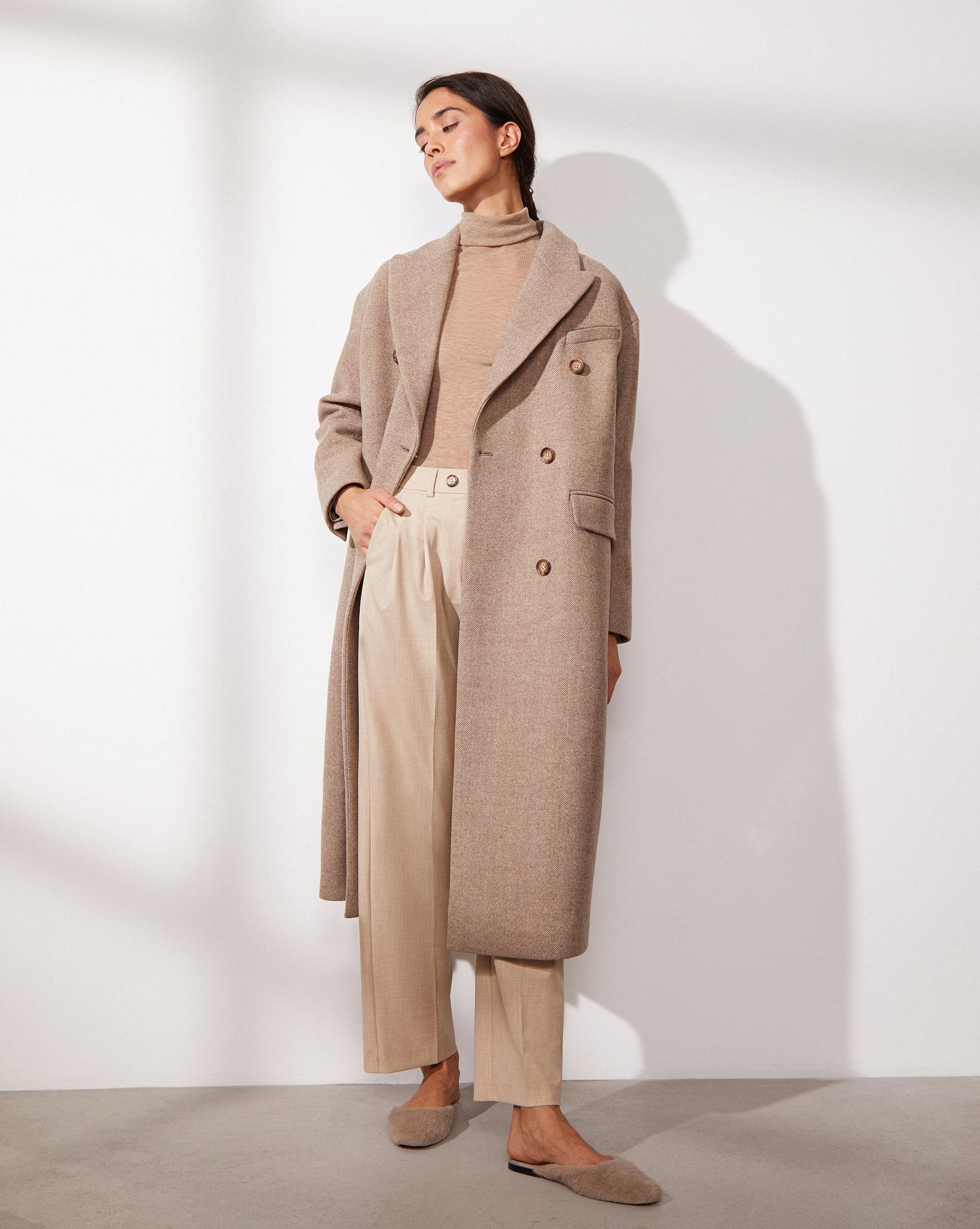 12⠀STOREEZ Прямое двубортное пальто 105717 фото