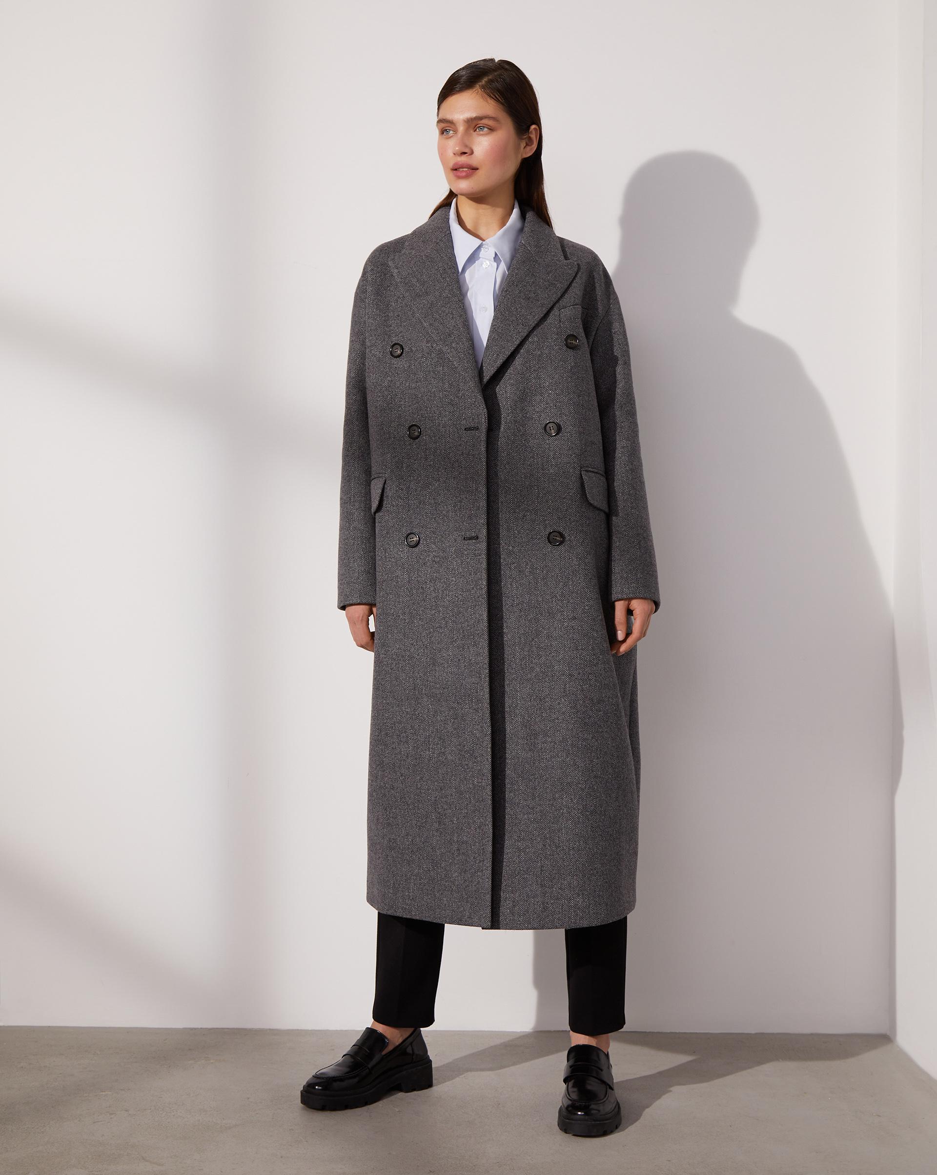 12⠀STOREEZ Прямое двубортное пальто 105662 фото