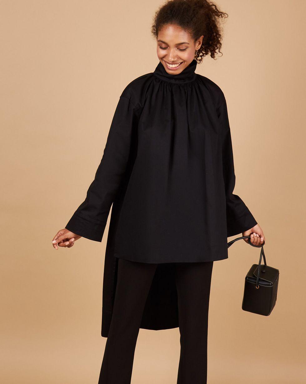 12Storeez рубашка на стойке (черный) 12storeez рубашка из лакированной кожи черный