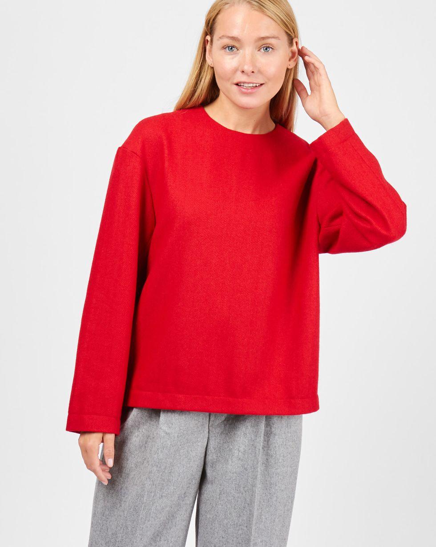 цена 12Storeez Топ со спущенными плечами (красный) онлайн в 2017 году