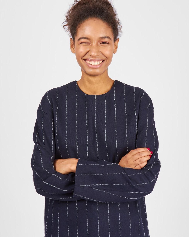 цена 12Storeez Топ со спущенными плечами (темно-синий) онлайн в 2017 году