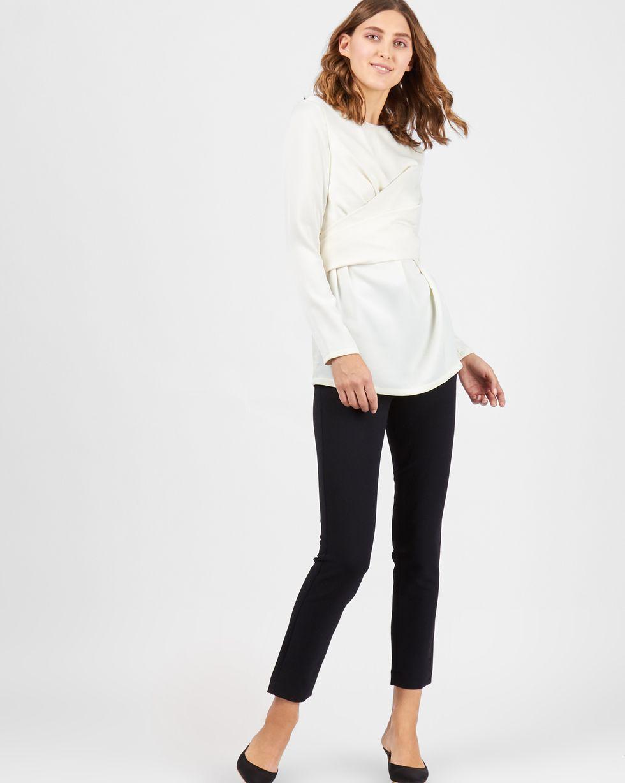 12Storeez Блуза с завязками на груди (молочный) FW17 блуза