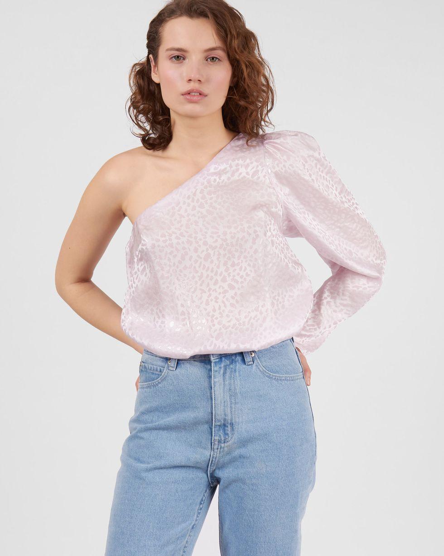 Блуза с одним рукавом из шелка MТопы и блузы<br><br><br>Артикул: 82812399<br>Размер: M<br>Цвет: Розовый<br>Новинка: НЕТ<br>Наименование en: Single sleeve blouse