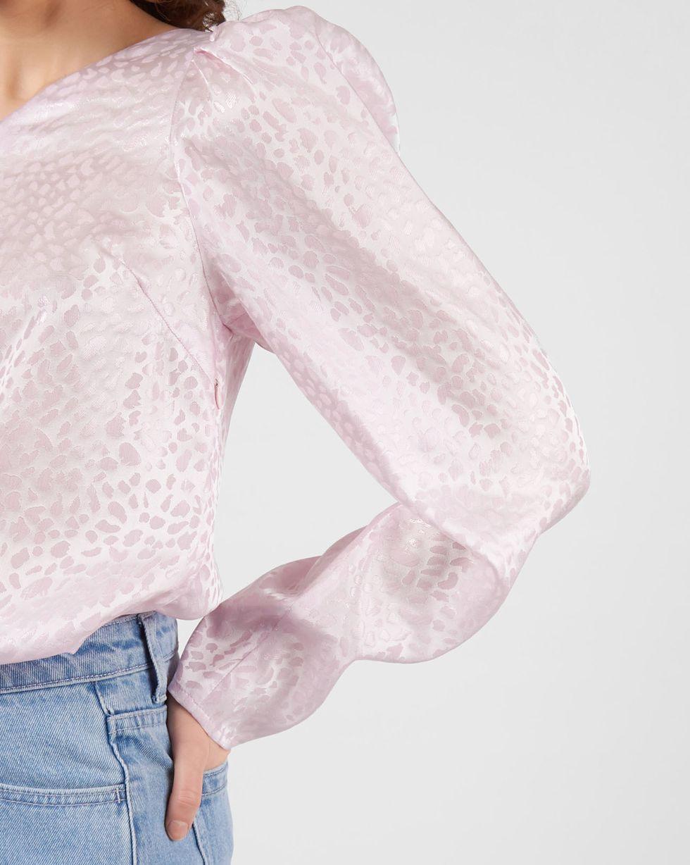 12Storeez Блуза с одним рукавом из шелка (розовый) блуза