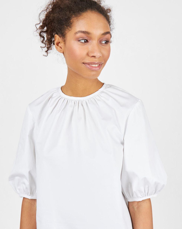 Блуза объемная с короткими рукавами M