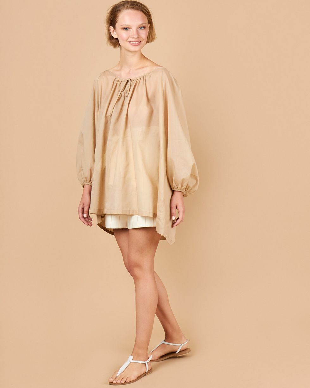12Storeez Блуза объемная на завязках (бежевый) блуза jennyfer jennyfer je008ewwme30