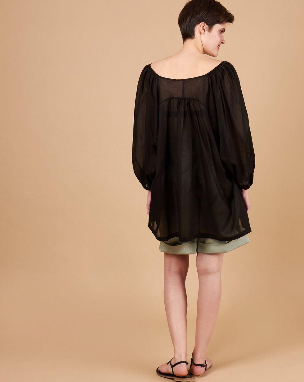 12Storeez Блуза объемная на завязках (черный)