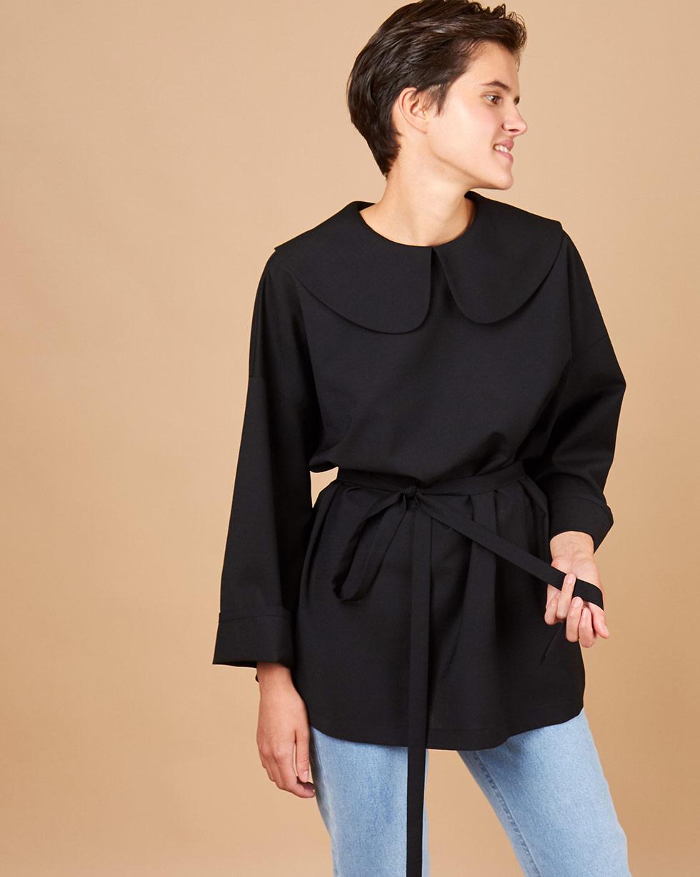 12Storeez Блуза на пуговицах сзади (серо-черный) 12storeez блуза свободная серо голубая полоска