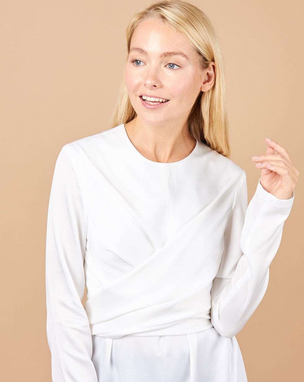 Фото #1: Блуза с завязками на груди S