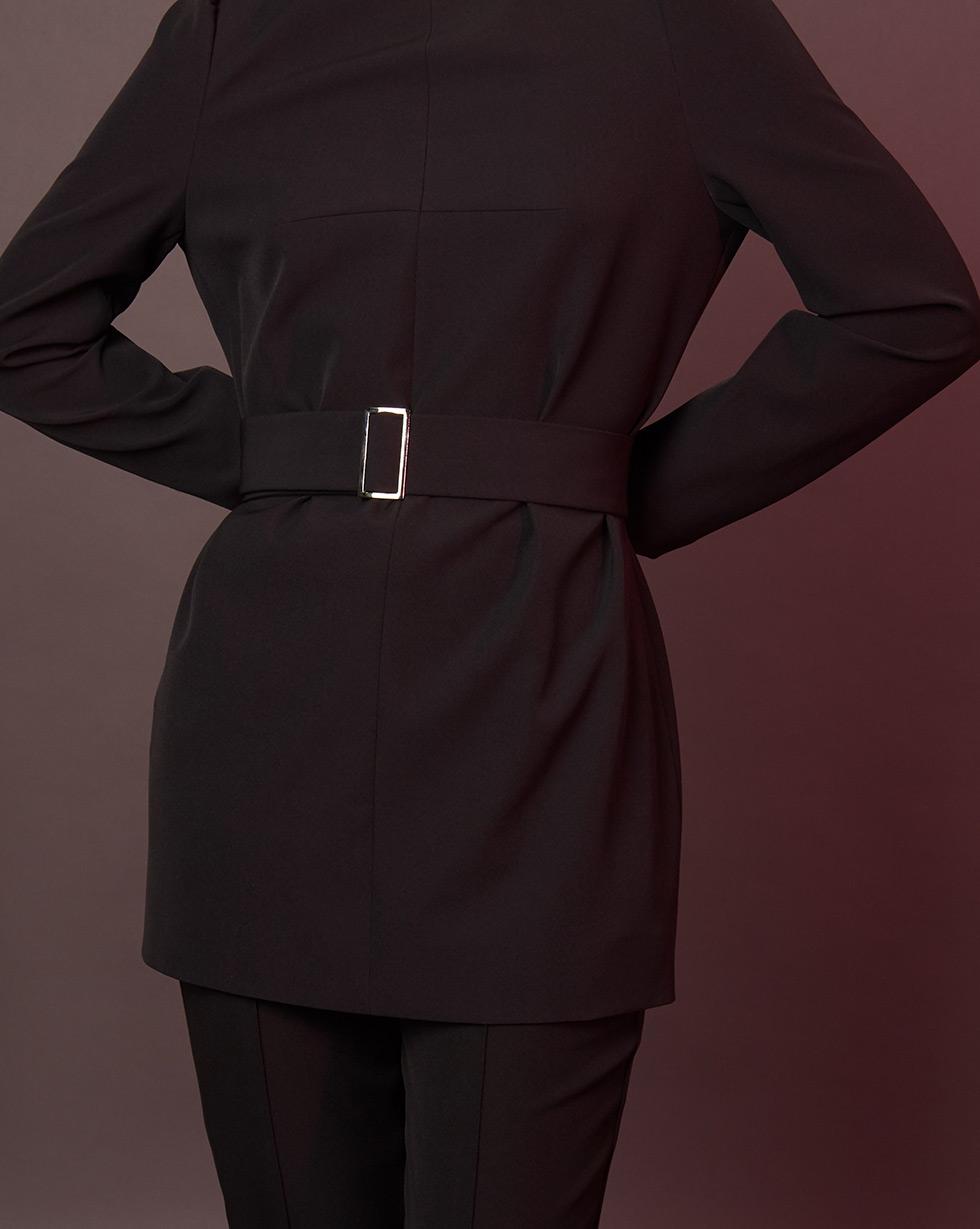 12Storeez Блуза удлинённая (чёрный) блуза