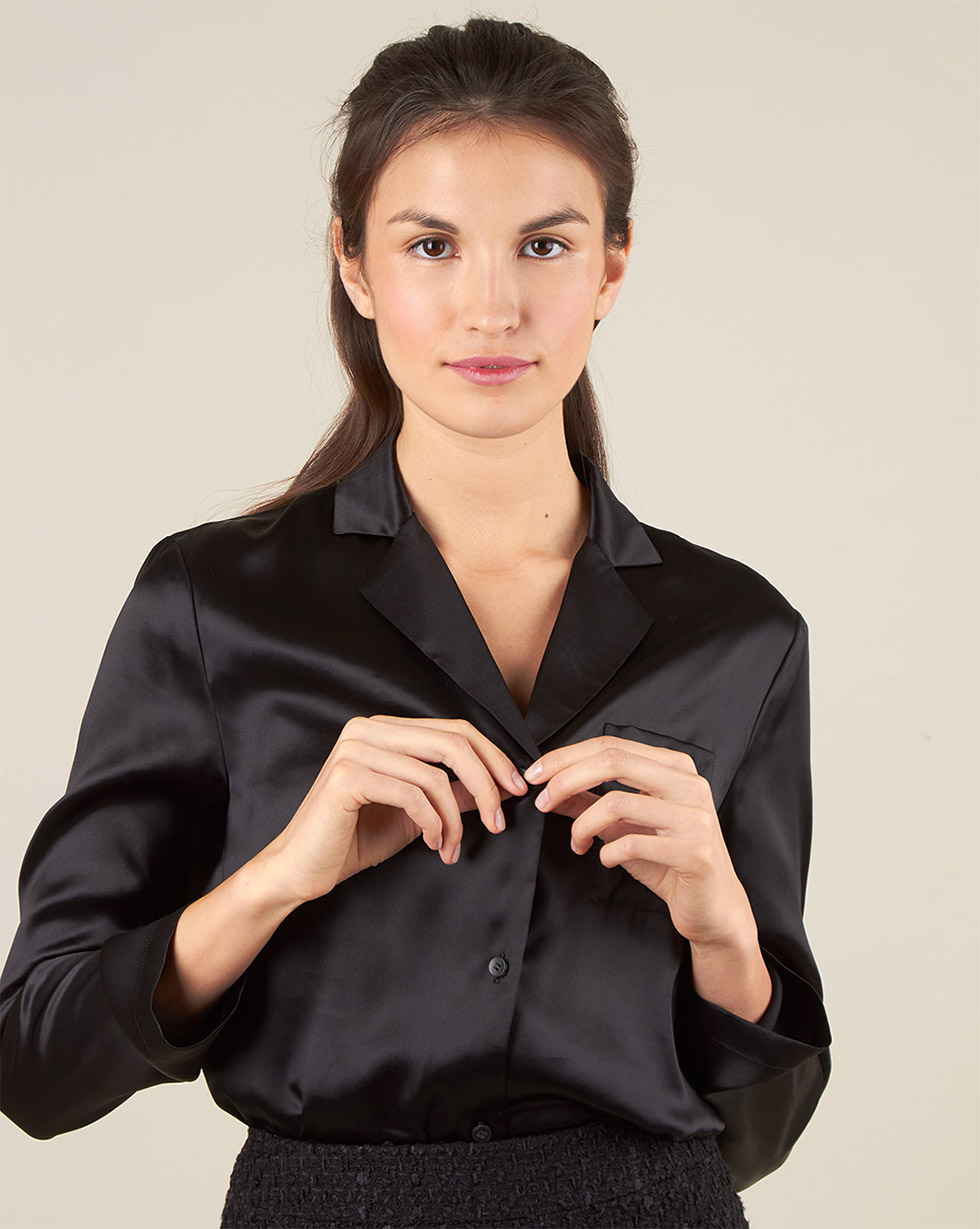 12Storeez Блуза на пуговицах из шёлка (чёрный) фронтальная панель для ванны riho p088n0500000000