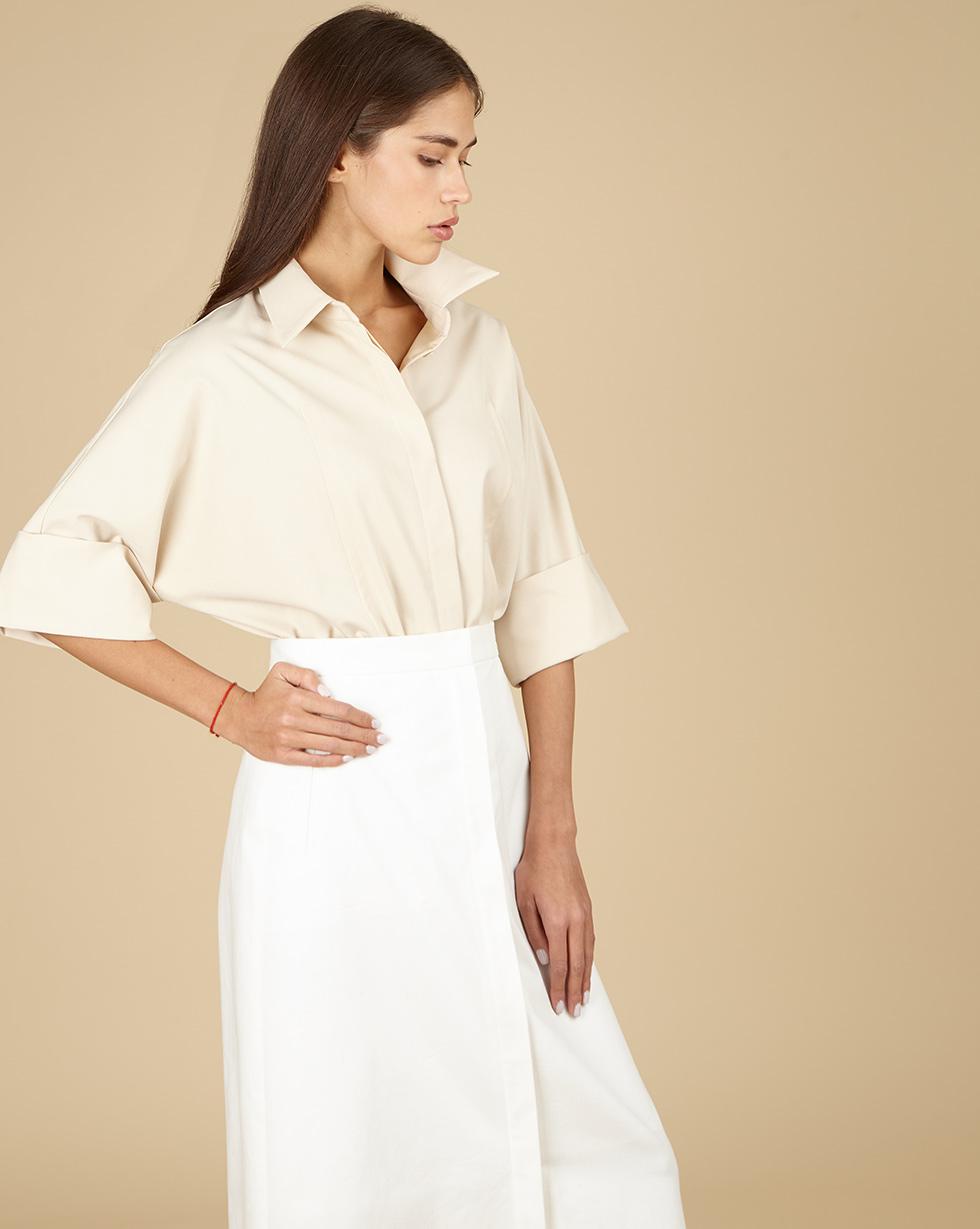 цена 12Storeez Блуза свободная с отстрочками онлайн в 2017 году