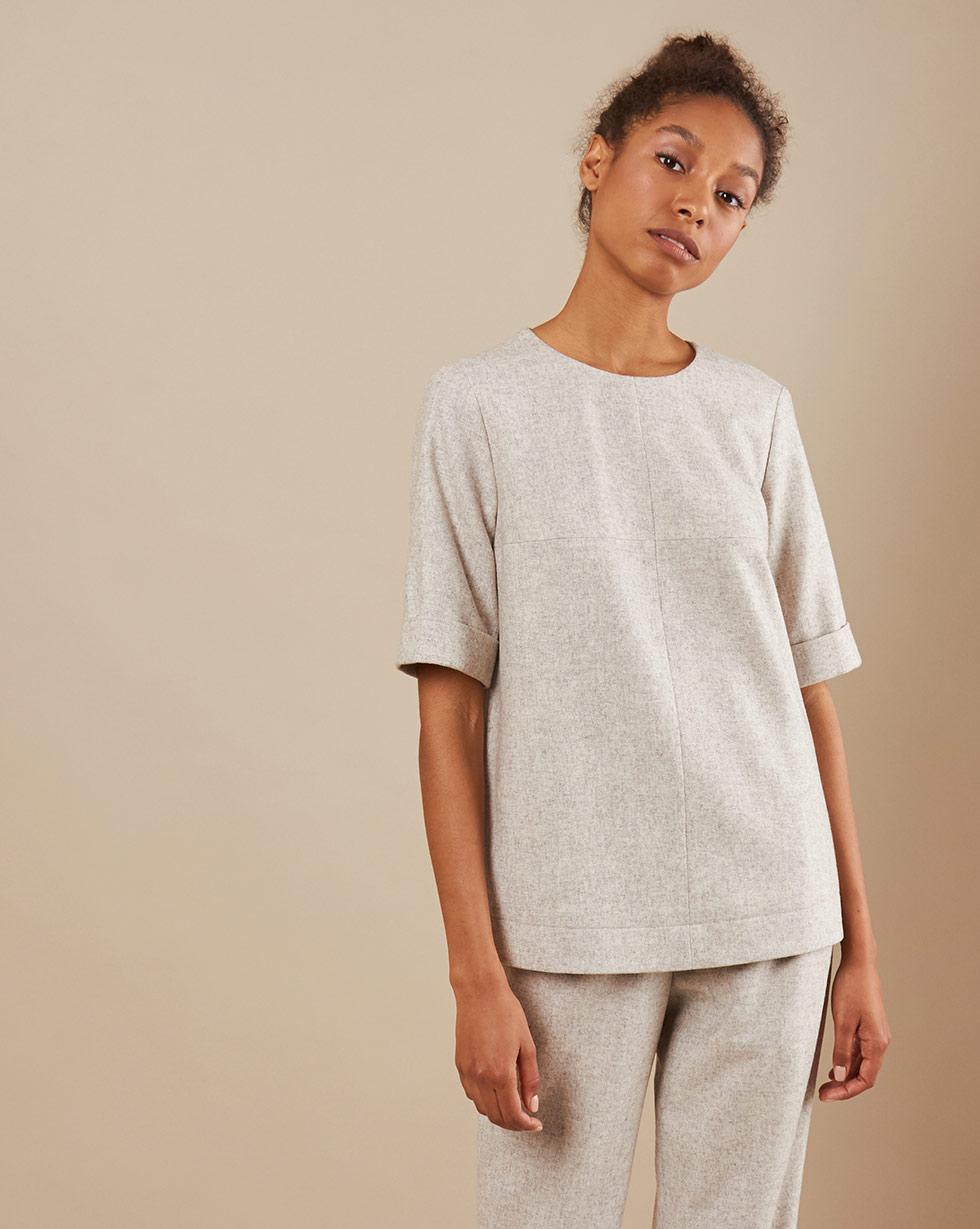 12Storeez Топ с коротким рукавом блуза с коротким рукавом seventy блузы с коротким рукавом