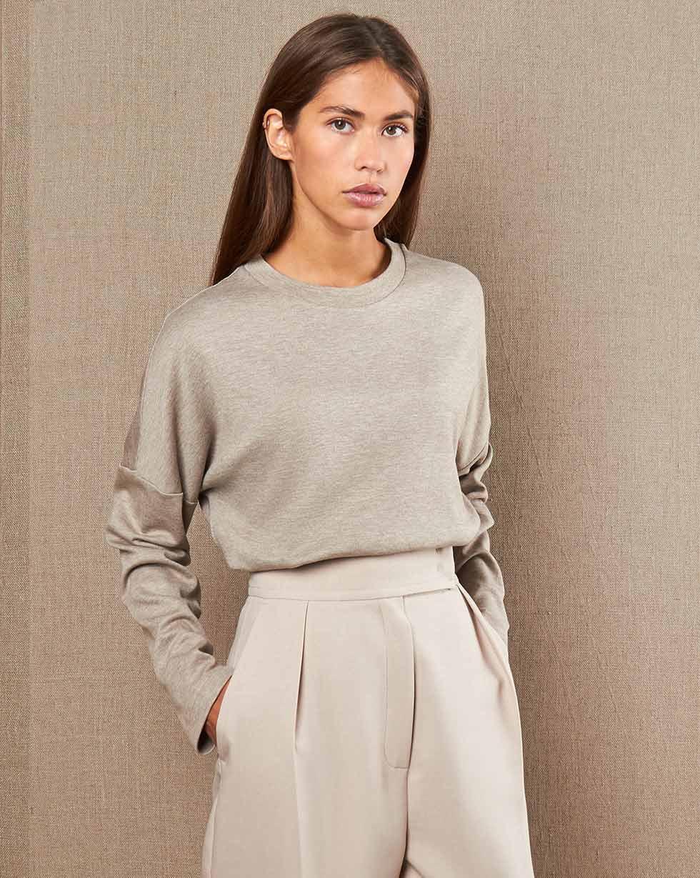 12STOREEZ Блуза свободная из трикотажа блуза montebelluna блуза