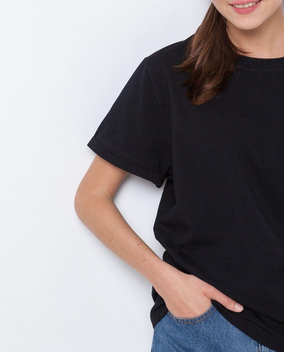Футболка свободного кроя One sizeТопы и блузы<br><br><br>Артикул: 8285712<br>Размер: One size<br>Цвет: Чёрный<br>Новинка: НЕТ<br>Наименование en: Oversized T-shirt