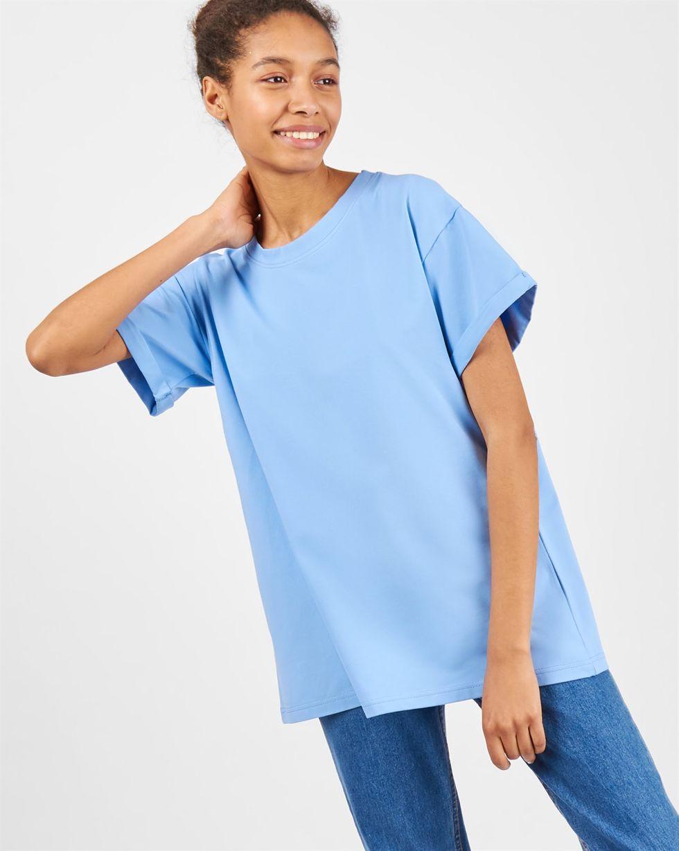Футболка мужского кроя One sizeТопы и блузы<br><br><br>Артикул: 8286237<br>Размер: One size<br>Цвет: Голубой<br>Новинка: НЕТ<br>Наименование en: Boyfriend T-shirt