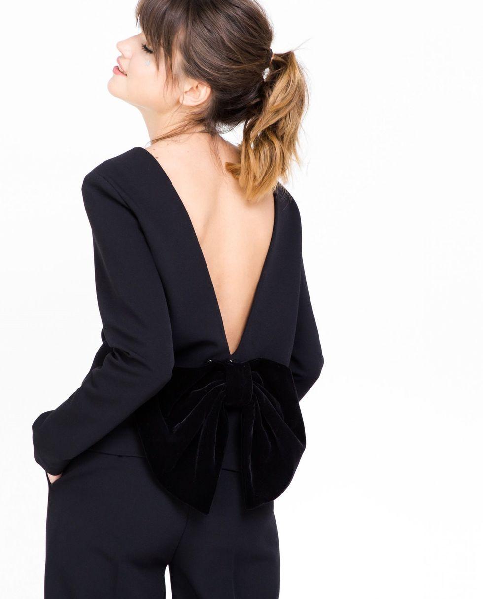 12Storeez Топ с вырезом на спине и бантом (черный) цена и фото