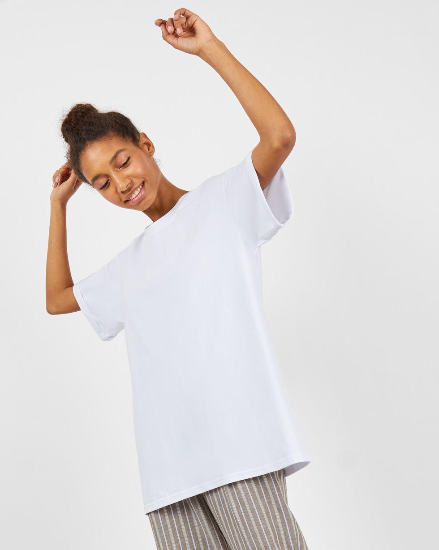 Футболка мужского кроя One sizeТопы и блузы<br><br><br>Артикул: 8287440<br>Размер: One size<br>Цвет: Белый<br>Новинка: НЕТ<br>Наименование en: Boyfriend T-shirt