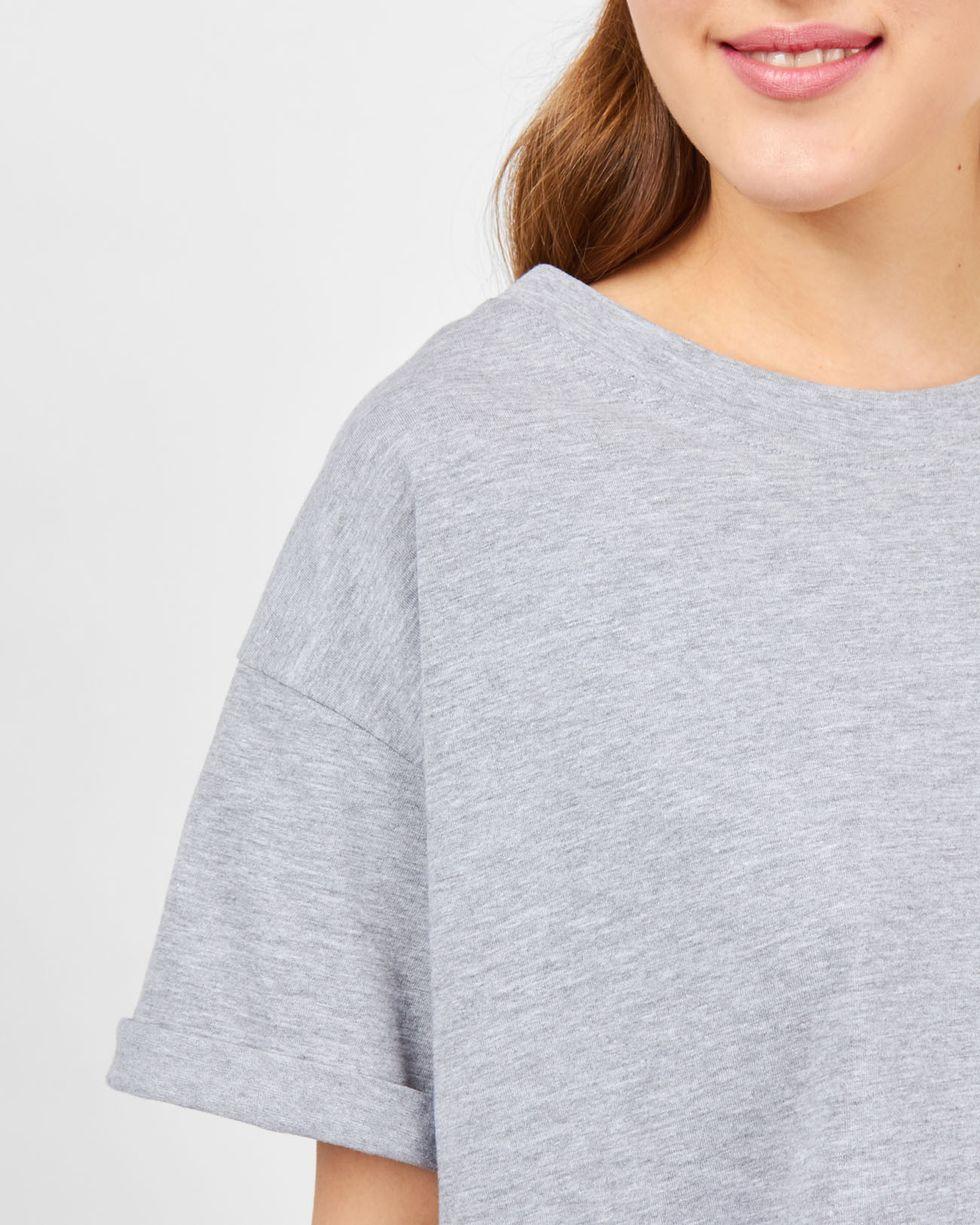 12Storeez Футболка в мужском стиле (светло-серый) футболка женская mustang цвет светло серый 1005500 4141 размер xs 40