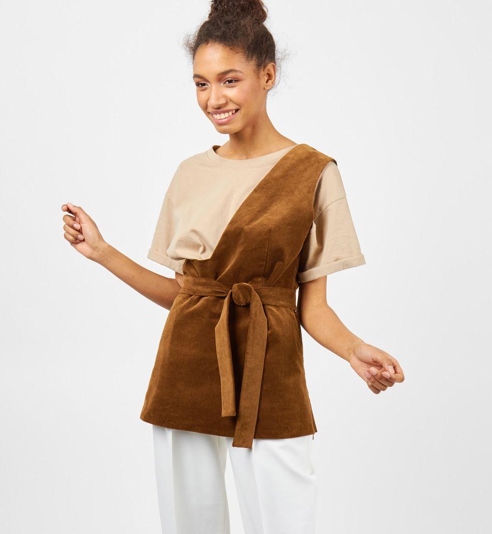 12Storeez Топ вельветовый на одно плечо 12storeez платье комбинация на одно плечо чёрный