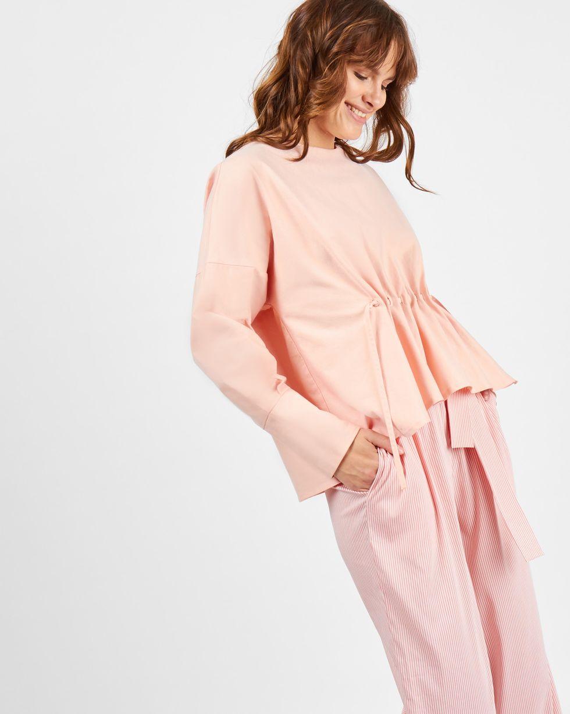 Блуза на кулисе SТопы и блузы<br><br><br>Артикул: 8288874<br>Размер: S<br>Цвет: Персиковый<br>Новинка: НЕТ<br>Наименование en: Drawstring detail blouse