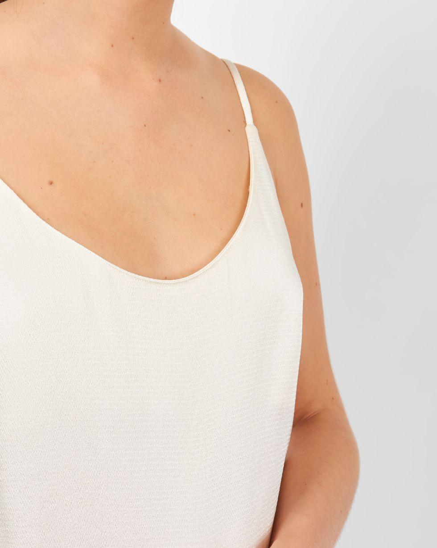 Топ на тонких бретелях XSТопы и блузы<br><br><br>Артикул: 82810139<br>Размер: XS<br>Цвет: Молочный<br>Новинка: НЕТ<br>Наименование en: Low back camisole top