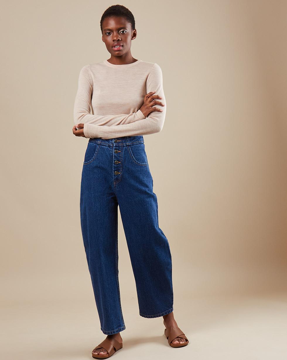 12Storeez Джинсы D30-005 (Синий) 12storeez джинсы широкие укороченные синий